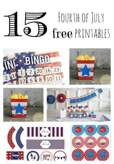 15 Patriotic Party Printables! | I Heart Nap Time - Easy recipes, DIY crafts, Homemaking