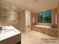huge frameless glass shower