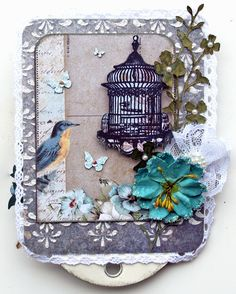 Scrap, Travel, and Bark!: More projects with Swirlydoos January KOM and Creative Embellishments January challenge