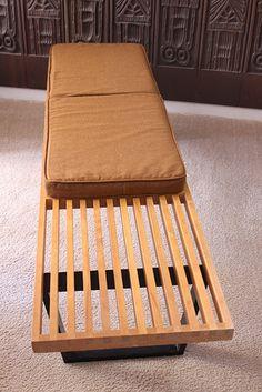 mid century modern vintage george nelson bench w cushion herman miller eames