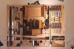 My Hanging Tool Cabinet - by dakotawood @ LumberJocks.com ~ woodworking community