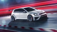 Volkswagen Golf GTI TCR, racecar, white (horizontal)