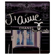 Canvas print with a stylized Chanel storefront design. Made in the USA.   Product: Canvas printConstruction Material: