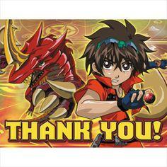 Bakugan Battle Brawlers Thank You Notes w/Envelopes