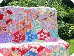 vintage kaleidoscope quilt
