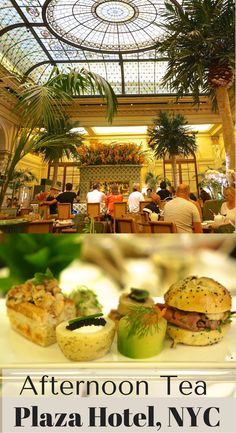 Don't miss the full afternoon tea at New York City's iconic Plaza Hotel, held in the Palm Court room with real palm trees. We loved the Champagne tea (with foie gras and caviar) and the New York tea (with mini bagels and lox).