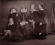 Queen Victoria and her eldest children    Carbon print copy of Queen Victoria, Princess Royal, Princess Helena, Princess Royal and Prince Alfred, 17 January 1852, by William Edward Kilburn