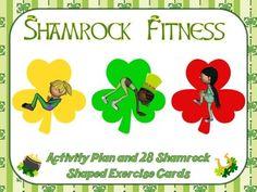Shamrock Fitness- Activity Plan and 28 Shamrock-Shaped Exercise Cards