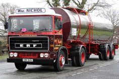 ERF W.m Nichol VBV921V Transport, Commercial Vehicle, Vintage Bikes, Classic Trucks, Old Trucks, Volvo, Cars And Motorcycles, Trailers, Europe