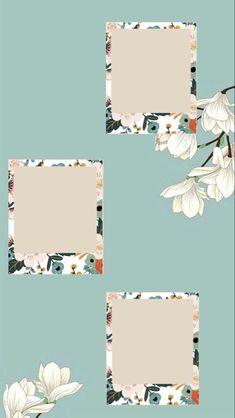 Framed Wallpaper, Cute Wallpaper Backgrounds, Cute Wallpapers, Flower Background Wallpaper, Photo Frame Wallpaper, Instagram Photo Editing, Creative Instagram Stories, Instagram Story Ideas, Photo Collage Template