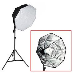 Neewer® Photography Continuous 31″x31″/80x80cm Octagon Softbox Lighting Light Kit with CFL Bulb and Light Stand for Photo Studio Portraits,Product Photography and Video Shooting