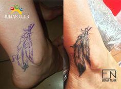 feather tattoos #feather #tattoos #coverup #erkan #nehir