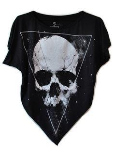 Cropped Laço Cosmic Skull #cropped #skull #fashion #cosmic #girls #modafeminina #casual