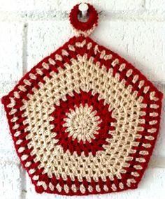 vintage crocheted pot holder tutorial