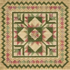 Hearts and Flowers, needlepoint counted canvas