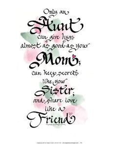 poems for aunts from nieces | AUNT POEMS