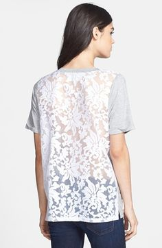 lace back tee / @Nordstrom