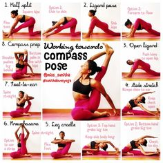 Yoga tutorial for compass pose @miss_sunitha for more