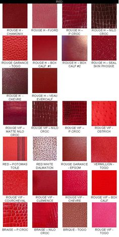 Just some of Hermes' Reds | The House of Beccaria