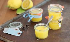 Lemon Curd - Rezepte - Schweizer Milch Ice Cream Desserts, Candle Jars, Glass Of Milk, Sweets, Ethnic Recipes, Food, Fruits And Veggies, Greedy People, Recipe