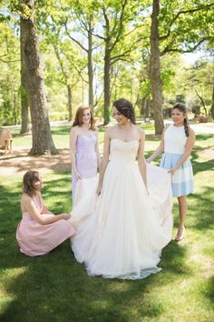 Wedding Dresses:   Illustration   Description   Hayden Olivia Bridal wedding gown with bridesmaids in Lula Kate    -Read More –   - #WeddingDresses https://adlmag.net/2017/12/28/wedding-dresses-inspiration-hayden-olivia-bridal-wedding-gown-with-bridesmaids-in-lula-kate/