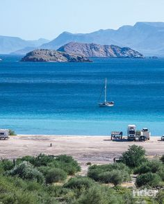 GoBajaCA | Baja Enlightenment: Riding Mexico's Lower California Peninsula - Playa Santispac in Bahía Concepción is a popular campsite on the Sea of Cortez, south of Mulegé, complete with two beach-front restaurants. (Photos by the author)