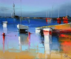 Eric Lepape After the storm Watercolor Landscape, Landscape Art, Eric Le Pape, Mediterranean Paintings, Images D'art, Boat Art, Boat Painting, Beautiful Paintings, Lovers Art