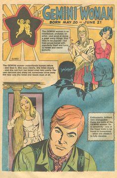 Sequential Crush: The Gemini Woman Gemini Art, Gemini And Scorpio, Gemini Woman, Aquarius, Room Posters, Poster Wall, Poster Prints, Vintage Comics, Vintage Posters