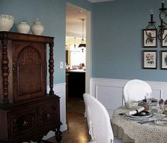 we're painting our living room this color, interesting aqua from shewrin williams (tho two months in we only have the priming done..)