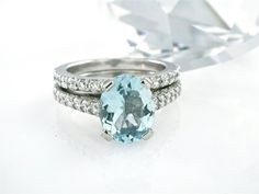 10 Off Sale Aquamarine Ring Conflict Free Diamond by RandomJewels Perfect Engagement Ring, Engagement Rings, Princess Jewelry, Diamond Wedding Sets, Aquamarines, Aquamarine Jewelry, Seaside Wedding, Conflict Free Diamonds, Love Ring