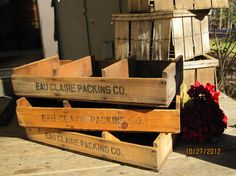 2 Old Wooden Orchard CratesStore Display by naturescallingjess, $60.00