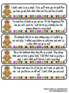 Maybe for an AFTER CHRISTMAS activity? it's set up for a school hunt but I bet it would be fun & easy for around the house too. Pin now, read later. Everything I do is gingerbread man related. Gingerbread Man Activities, Holiday Activities, Gingerbread Men, Gingerbread Stories, Christmas Gingerbread, Fun Activities, Beginning Of The School Year, First Day Of School, Groundhog Day