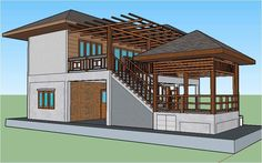 Wooden House Design, Small House Design, Dream Home Design, Home Design Plans, Home Building Design, Building A House, Modern Architecture House, Architecture Design, Underground House Plans