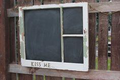 Barn Window chalkboard