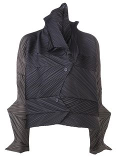 Love the Issey Miyake ribbed pleat cardigan on Wantering.