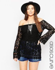 ASOS CURVE Poncho in Lace at asos.com #jacket #covetme