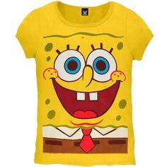 Spongebob - Giant Spongebob Girls Youth Costume T-Shirt
