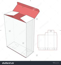 Cardboard Box With Die-Cut Pattern Stock Vector Illustration 179578280 : Shutterstock
