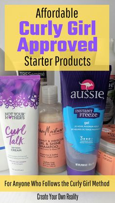 Get your curly girl method routine started with these curly hair products. These drugstore products are all curly girl approved and perfect for beginners (or even curly girl pros! products The Curly Girl Method: Beginner Products 3a Curly Hair, Curly Hair Styles, Curly Hair Routine, Black Curly Hair, Natural Hair Styles, Frizzy Curly Hair Products, Curly Braids, Long Curly, Curly Hair Shampoo