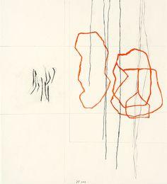 Jürgen Partenheimer: Roman Diary Part 2 (VI of X) Für Eugenio Montale, 2003  pencil and water colour on paper  31.5 x 28 cm
