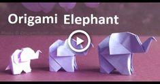 Origami Elephant:Amazing Paper Elephant Making Step-by-Step Origami Ball, Diy Origami, Origami Fish, Origami Butterfly, Paper Crafts Origami, Paper Crafts For Kids, Origami Instructions, Origami Tutorial, Kirigami