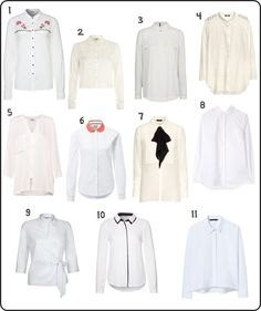 La camisa blanca, de básico a tendencia White Shirts, White People, Trends, Clothing