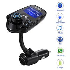 GT ROAD tpzlpzp121 Bluetooth Car Music Adapter and FM Transmitter LED Display Noise Reduction Technology Fast Pairing USB Charging Smartphone Compatible HandsFree Calls >>> Continue to the product at the image link.