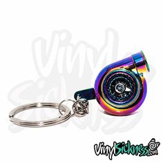 NEOCHROME TURBO KEYCHAIN Yes!, It spools!! Available in more colors. Visit https://VinylSickness.com for more!