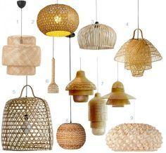 ou trouver une suspension lampe bambou decorative pas chere