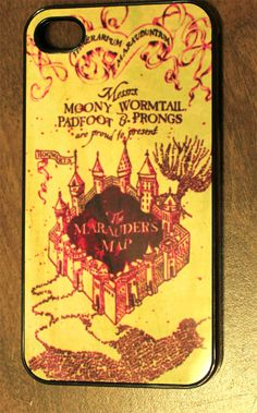 Marauder's Map Harry potter iPhone Case