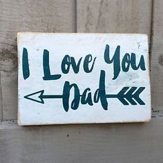 I Love You Dad Fathers Day Wooden Sign Plaque Shabby Chic Art Present Gift Home | eBay