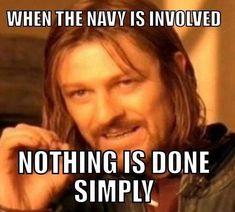 33 Navy Memes That Even The 'Blue Ropers' Will Enjoy - Memebase - Funny Memes Navy Jokes, Navy Humor, Us Sailors, Military Jokes, Go Navy, Navy Life, Navy Military, I Laughed, Funny Memes