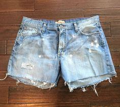Bke Destroyed Denim Cut Off Shorts Size 32  | eBay