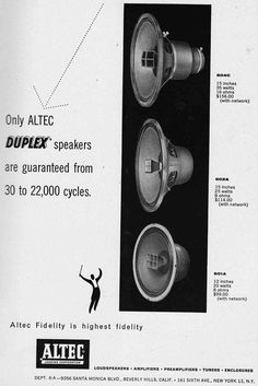 Audiophile Speakers, Hifi Audio, Audio Speakers, Cinema Theater, Speaker Box Design, Speaker Plans, Altec Lansing, Antique Radio, Human Soul